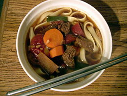 Taiwan-style beef noodle soup