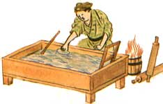 Silk paper-making in China, Middle Ages