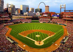 St. Louis Skyline from Busch Stadium