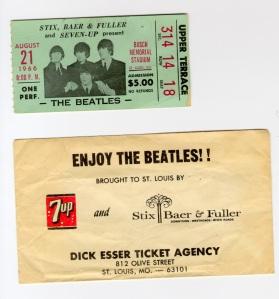 beatles ticket